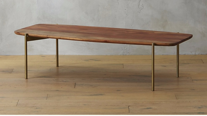 Mid century modern wood and brass coffee table furniture for Coffee tables ottawa