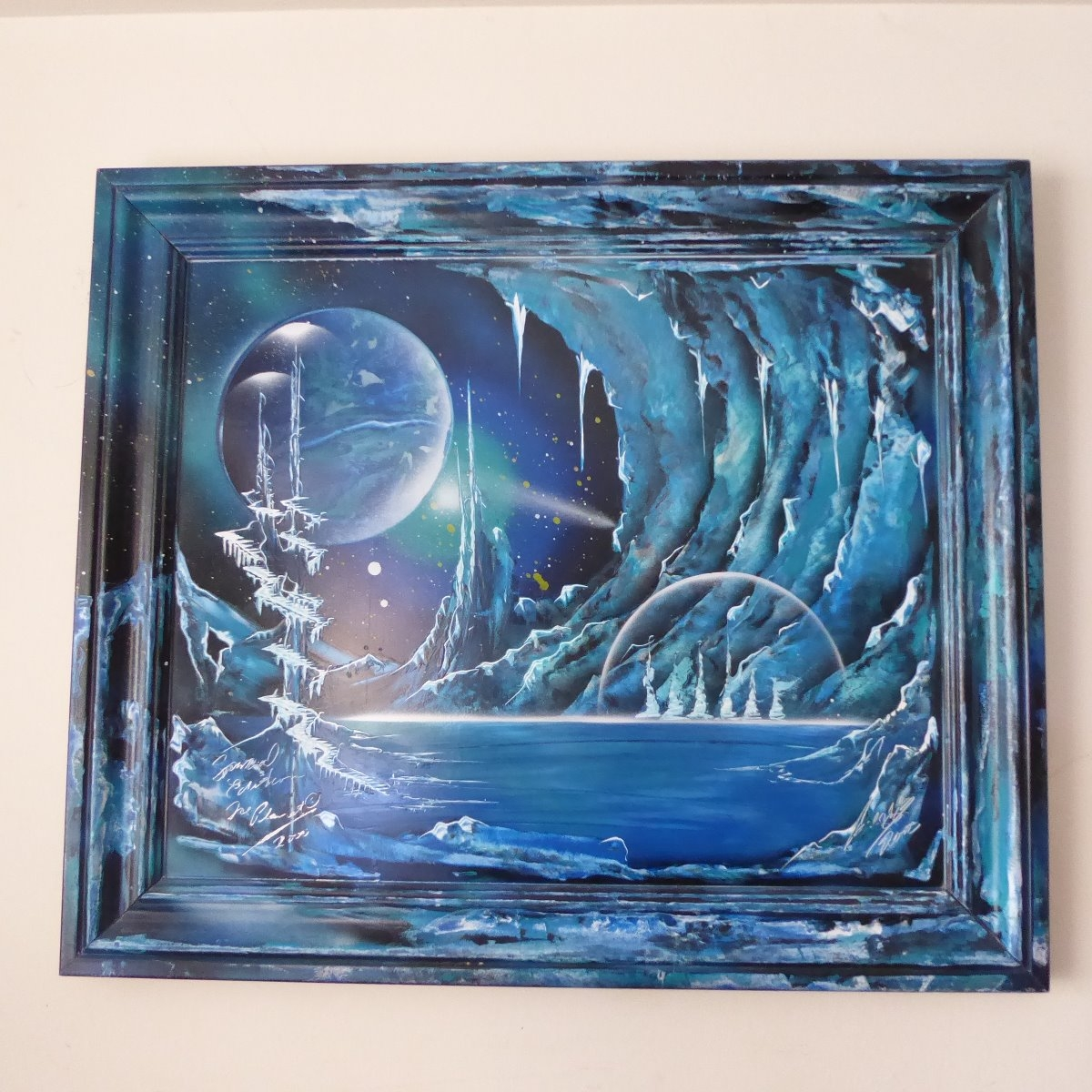 Ice Planet Original Signed Spray Painted Painting Special Edition Buy And Sell