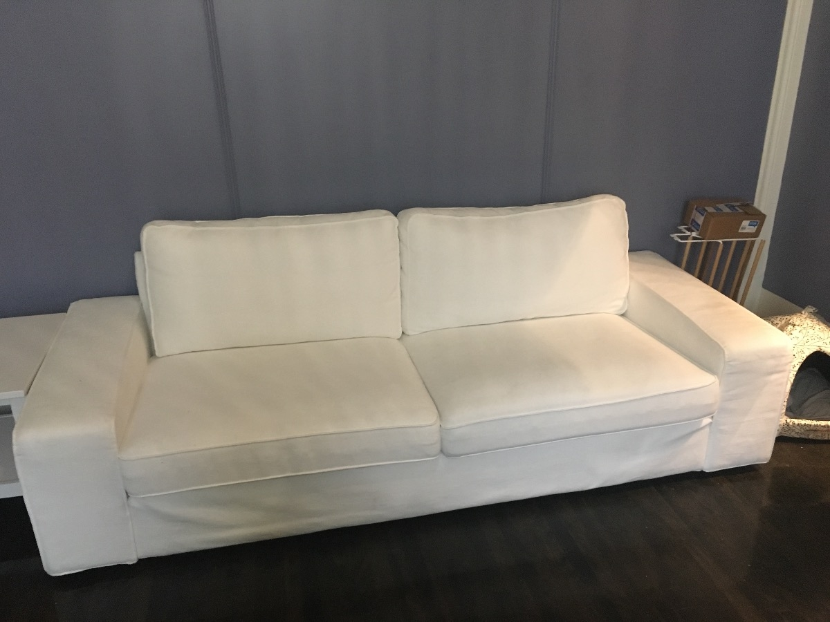 IKEA Is Still Selling This Sofa  You Can Buy A New/different Cover If You  Want. Few Faint Stains, Barely Visible. Cash Only! No Delivery!