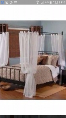 Sandra Canopy Bed Frame Double Furniture Buy And